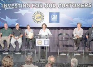 The Aug. 4 press conference announcing General Motor's plans.