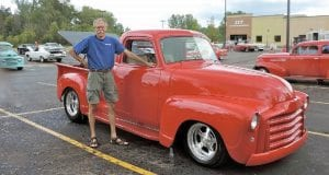 "Newly retired Dick Moldenhauer of Grand Blanc says he had a lot more time to show off his 1953 GMC pickup truck, starting at the ITT opening event, which had a 1950s theme and classic music like ""Hot Rod Lincoln."""