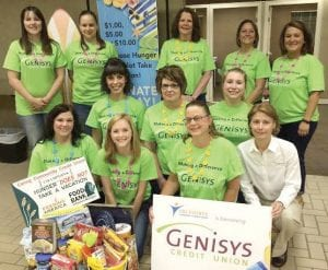 Genisys Grand Blanc Team with Jackie Buchanan, Genisys Credit Union President and CEO.