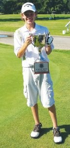 Cameron Beckwith is the boys' 9-hole champion.