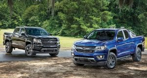 The 2016 Chevrolet Colorado Midnight Edition and Trail Boss