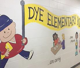 Dye Elementary will be one of three area elementary schools to get a reading center made possible by an online fundraiser sponsored by United Way and Brandon Carr, a Carman-Ainsworth graduate.