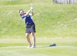 Alanna Gleason was one of three Carman-Ainsworth golfers to play in the Genesee County Invitational last Monday at Flint Elks Club.