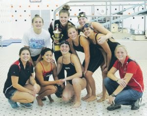 Grand Blanc swimmers won the team title at the Genesee County Invitational last week at Fenton.