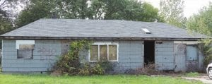 This house on Nerredia Street is scheduled for demolition, depending on available CDBG funds.
