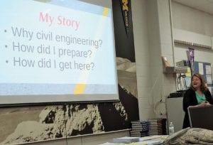 Leanne Panduren, president of Rowe Engineering, gave CAHS students the scoop on engineering careers.