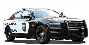 FCA North America unveiled the 2016 Dodge Charger Pursuit with a new industry-first, laptop-size, 12.1-inch touchscreen display that integrates Uconnect technology with law enforcement data systems.