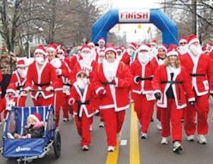 The Santa Run/Walk sponsored by the Greater Flint YMCA.