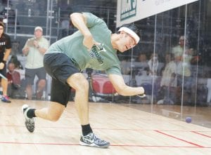 Former area resident Cliff Swain, here competing in the 2014 U.S. Open, reached the semifinals of the Red Swain Shootout last weekend at Davison Athletic Club.