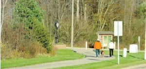 Warmer weather has allowed for a few more walks in the township park.