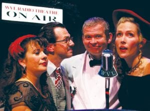 "Members of the cast of the ""It's a Wonderful Life"" live-radio play, coming to the Whiting, Dec. 10."