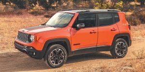 The 2016 Jeep Renegade was awarded Consumer Guide's Subcompact SUV.