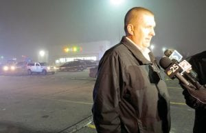 Lt. Jim Baldwin of the Flint Township Police Department briefed the media about a shooting in the parking lot of Toys R Us on Mondayevening.