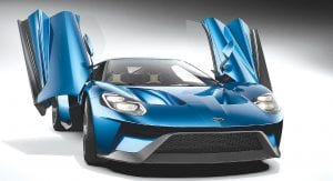 Gorilla Glass hybrid windshield is thinner than traditional laminate glass, and will improve Ford GT handling by lowering the vehicle's center of gravity