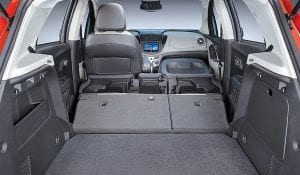 Fusing small-car agility and utility convenience of an SUV, Trax offers up to 48.4 cubic feet of cargo space.