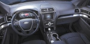 The 2016 Ford Explorer Platinum is now available with Ebony Black interior.