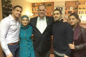 On Monday, Kildee accompanied Hekmati's family to a reunion in Germany, where Hekmati was taken after his release. Pictured (left to right) are Dr. Ramy Kurdi, (Amir's brother-in-law), Sarah Hekmati (Amir's sister), Congressman Dan Kildee, Amir Hekmati, and Leila Hekmati (Amir's sister).
