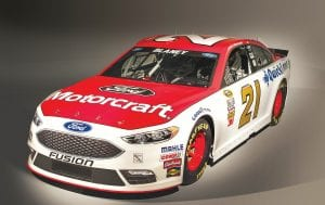 The new NASCAR Fusion, which hits the track next month at Daytona Speedweeks, is capable of producing 750 horsepower at 9,000 rpm under the current rules package.