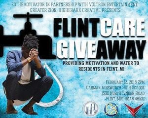 Zo the Motivator visited CAHS on Saturday to aid the Flint water crisis.