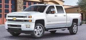 Chevrolet's Silverado HD ranks first in the Large Heavy Duty Pickup Segment for the second year in the J.D. Power 2016 Vehicle Dependability Study.