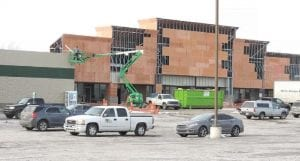 The middle condo at Mill Creek Shopping Center is being renovated for new tenants including CSL Plasma.