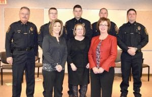 Police Chief George Sippert and township officials attended swearing in of four new officers on Tuesday.