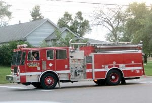 The township fire department is seeking bids to replace one of its older pumper trucks.