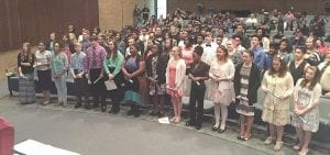 Family, friends and family attended the National Junior Honor Society induction ceremony at Carman-Ainsworth Middle School last week.