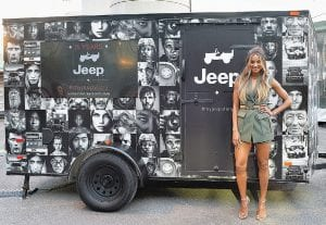 Ciara celebrates the Jeep brand's 75th anniversary by visiting Camp Jeep at the New York Auto Show on March 23, 2016, in New York City.