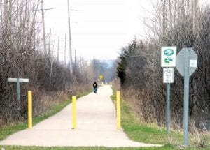 Cooler temperatures linger but snow for the most part has melted, making way for outdoor lovers to enjoy a walk along the Genesee Valley Trail.