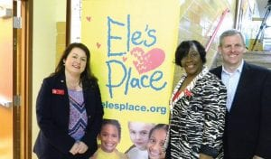Amy Krug, Managing Director, Ele's Place Flint, Tracy Payton-Lester, Program Director, Flint and Ele's Place President and CEO Dan Layman at last Thursday's open house.