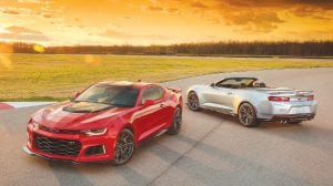 The 2017 Chevrolet Camaro ZL1 coupe and convertible models.