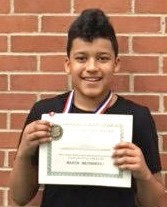 """Congratulations to Malaki Edwards, a middle school sixth-grader who represented the district well at """"March Mathness"""" a math competition hosted by Delta College."""