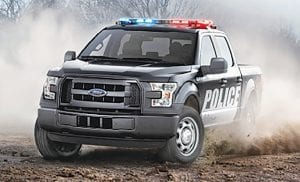 Ford offers a Special Service Vehicle package for the 2016 F-150 to meet the rigorous needs of government and fleet customers.