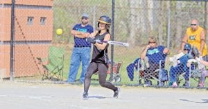 Carman-Ainsworth's Madison Cox takes a turn at the plate in a recent game.
