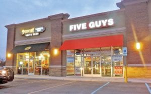 Five Guys Burgers and Fries is now open.
