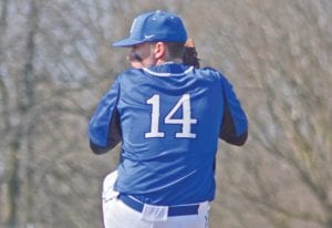 Carman-Ainsworth's Austin Jerome brings the heat to the plate.