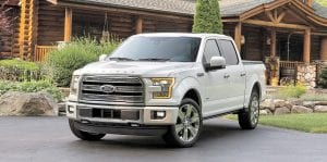 The 2016 Ford F-150 was recognized by customers in the Strategic Vision Total Quality Awards for delivering power and pick-up, safety and quality workmanship.