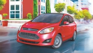 The 2016 Ford C-MAX Energi – a plug-in hybrid that can run in all-electric mode or on gas – received top honors in the small alternative powertrain car segment.