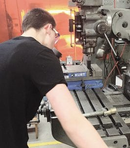 Students in the Baker College CNC machinist program will get hands-on experience with precision cutting equipment similar to machinery used by area employers.