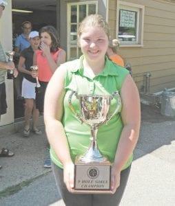 9-hole girls' champ Madison Brignance