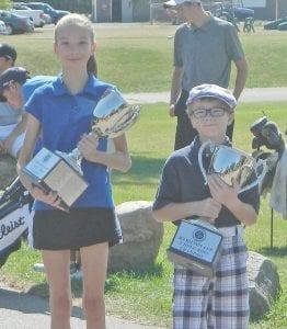 5-hole girls' champ Danielle Miller and boys' champ Chandler Frahm