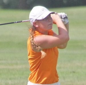 Flushing's Kerri Parks tied for ninth place with a score of 75-75-80-230.