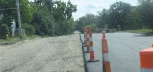 Crews repaved the southern portion of Graham Road last week. Ditching along the road was done earlier.