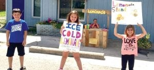 Selling lemonade was one of several fun fundraising events held last week by children at the Little Rascals Daycare Center on Corunna Road.