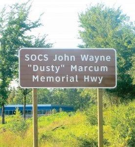 Highway dedication signs are now installed on John Wayne Marcum Memorial Highway (aka I-75)