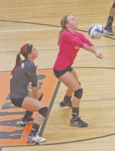 Katie Speaks led the Cavaliers in digs against Lapeer.