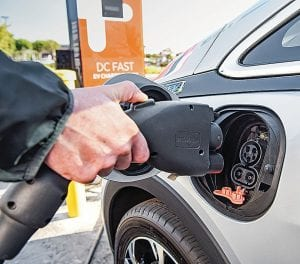 Bolt owners will fuel their rides at electrical recharging stations rather than at the gas pump.