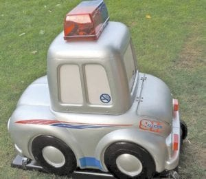Vehicles of all shapes and sizes were displayed including this miniature remote-controlled police car.
