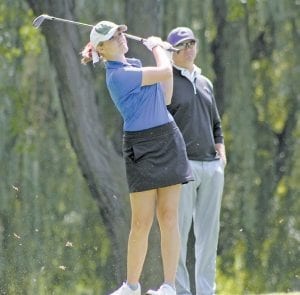 Carman-Ainsworth's Sloan Barclay represented the Lady Cavs as their only golfer at the Div. 1 regional last Wednesday at Hartland.